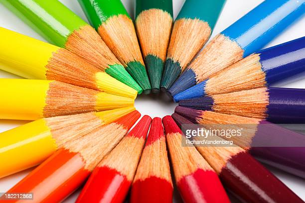 Colored pencil wheel