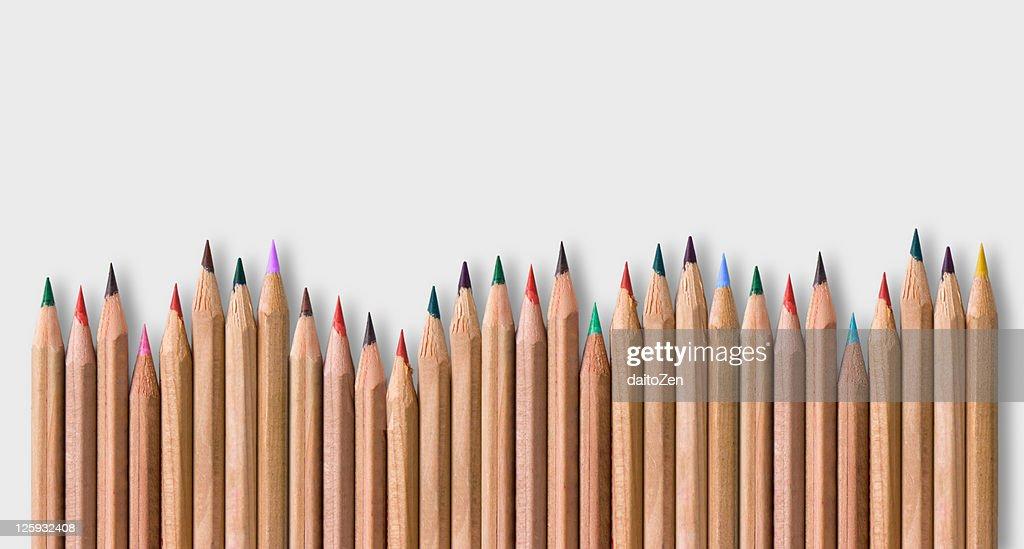 Colored pencils : Stock Photo