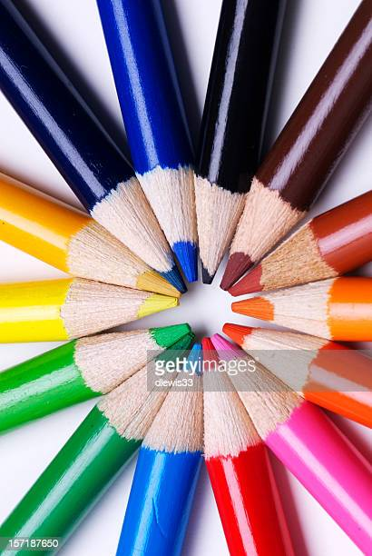 Colored Pencils Representing Diversity and Teamwork
