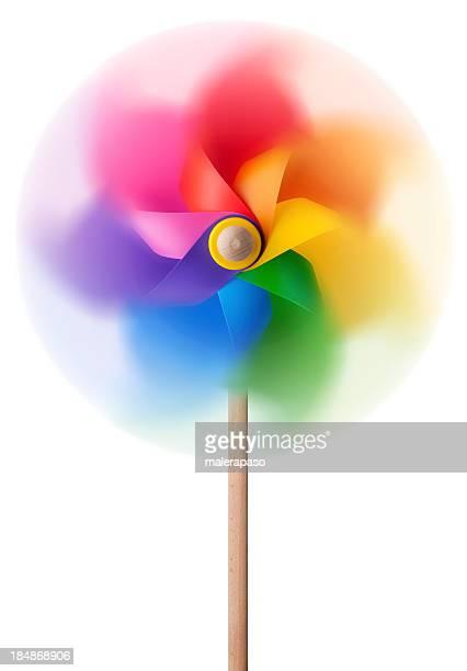 Coloré Moulin à vent de spinning