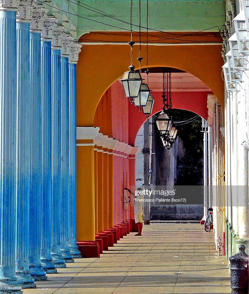 Colored porch : Stock Photo