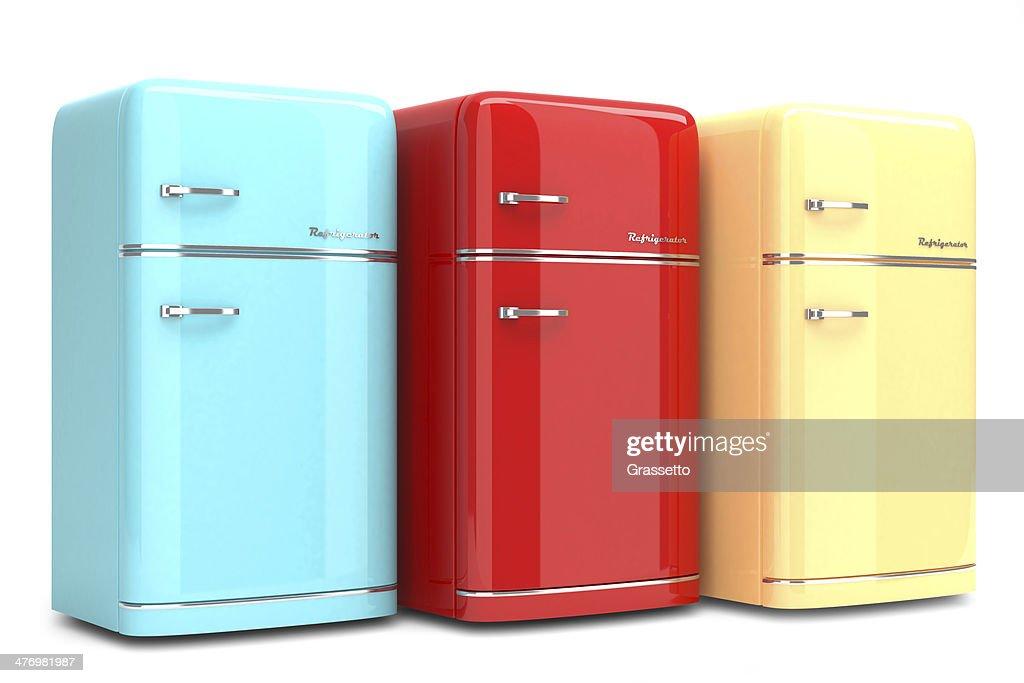 Retro Kühlschrank Niedrig : Bunte retro kühlschrank stock foto thinkstock