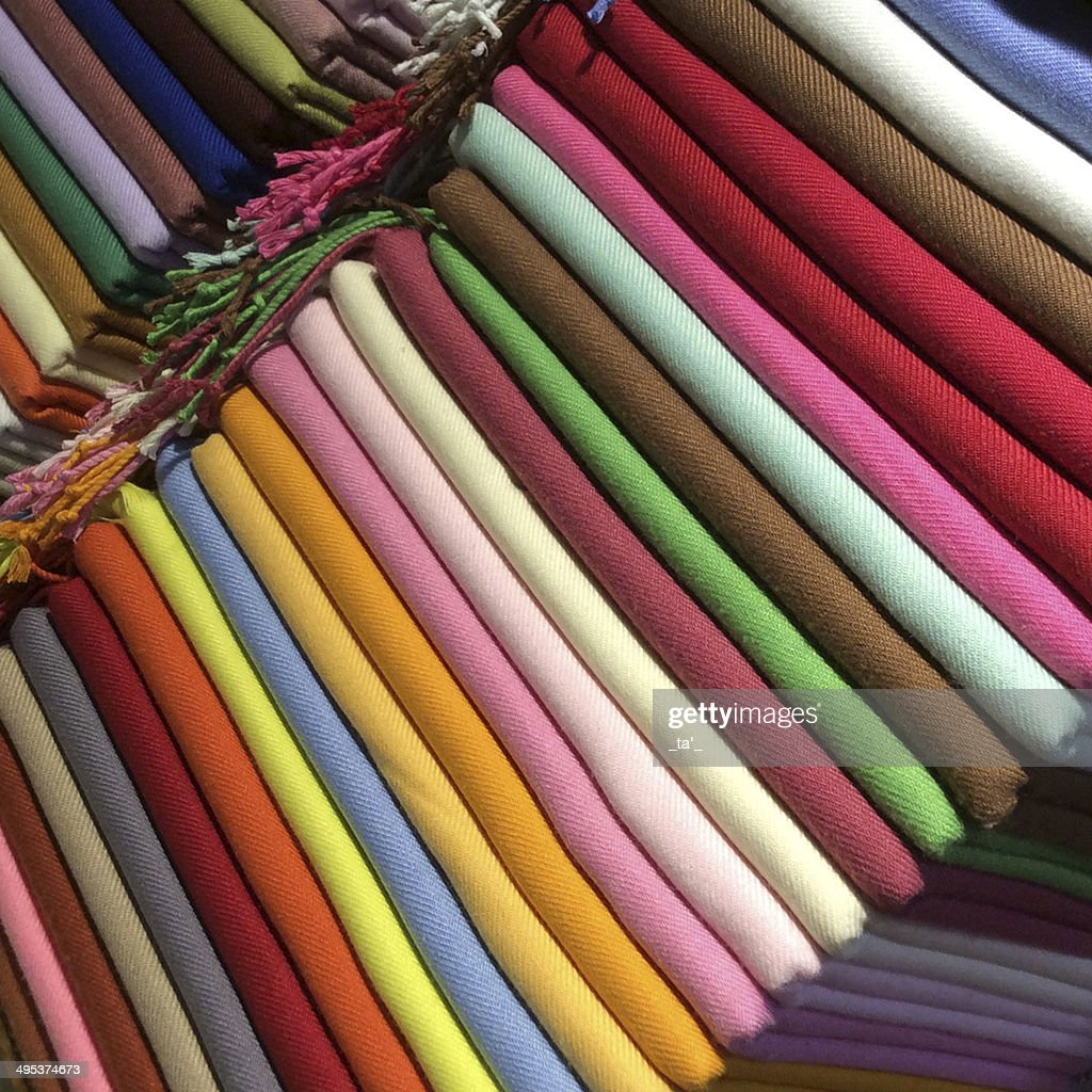 Colored silk