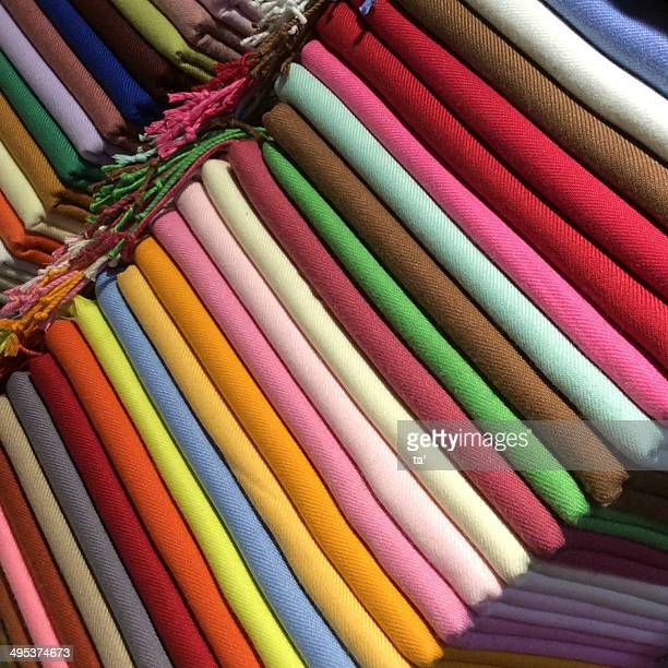 Colored silk