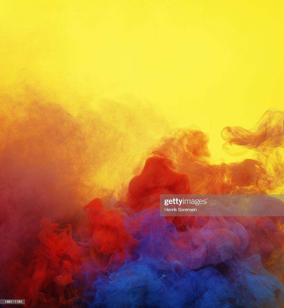 Colored smoke : Stock Photo