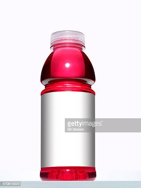 Colored sports drink bottle