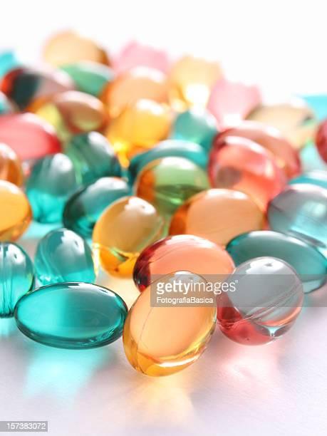 Pilules de vitamines Couleur