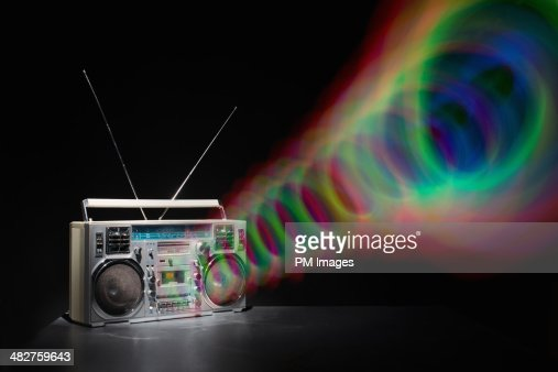 Colored Waves from Boom Box