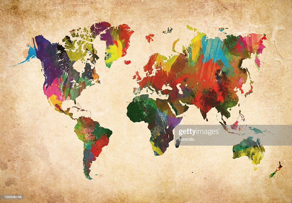 Colored World Map XXXL