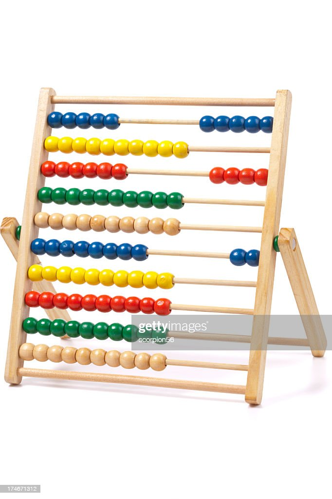 Colorful abacus on a white background