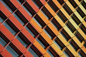 Colorful abstract of building exterior