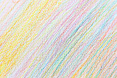 Colorful abstract background of pencil crayons by doodle hand writing