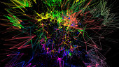 Colorful Abstract Network Background