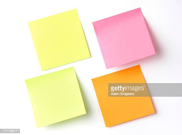 colorful adhesive notes