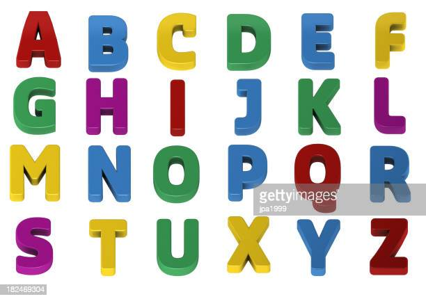 Colorful alphabets