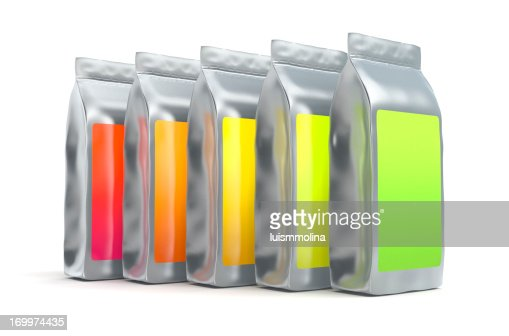 Colorful aluminum foil bag packaging