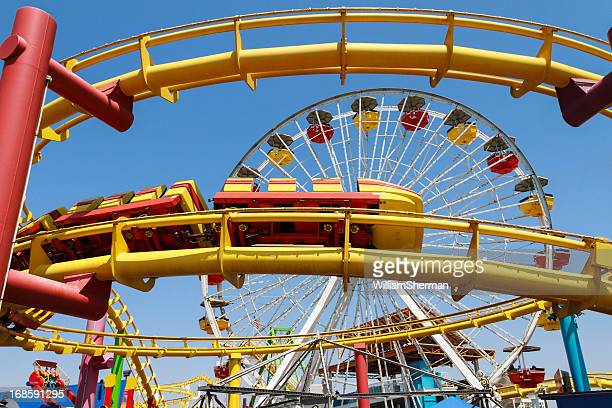 Colorful Amusement Park Rides