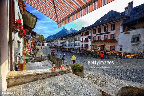 Colorful and Historic Gruyeres, Switzerland