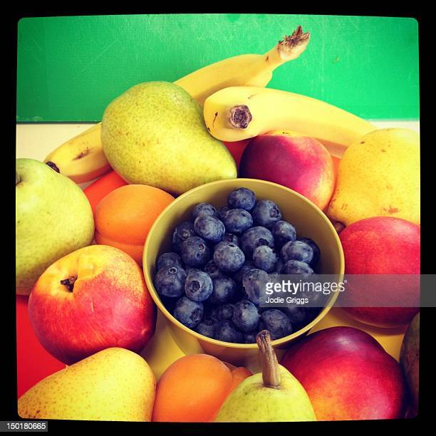 Colorful arrangement of fruit