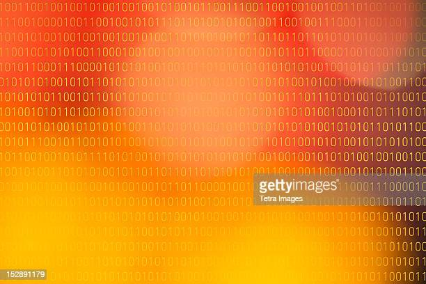 Colorful background representing binary code