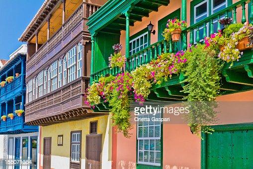 Colorful balconies in Santa Cruz de la Palma