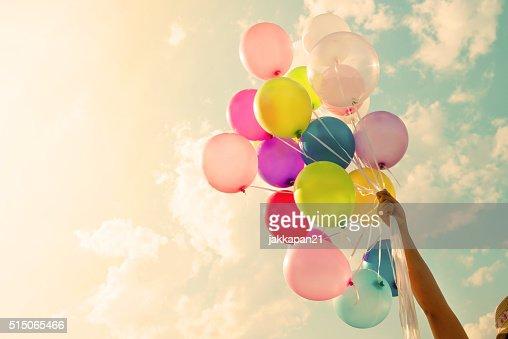 Bunte Luftballons : Stock-Foto