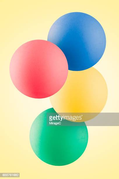Colorful Balls Levitation in Mid Air