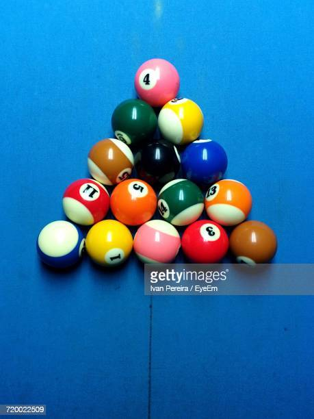 Colorful Balls On Pool Table