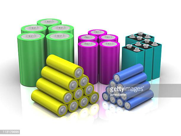Colorful Battery Stacks (3D)