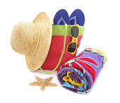 Colorful beach accessories