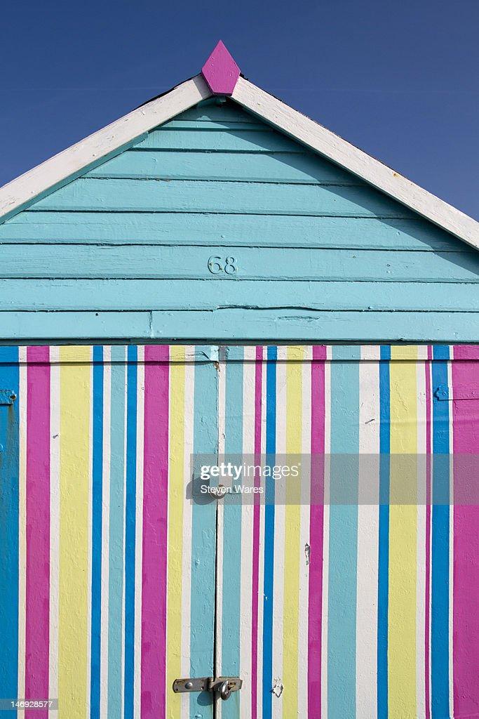 Colorful beach hut : Stock Photo