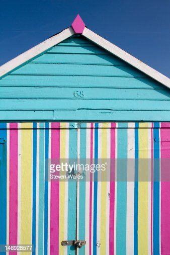 Colorful beach hut : Stock Photo
