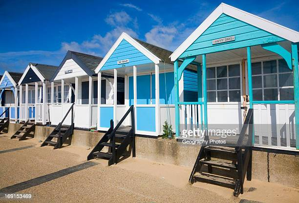 Colorful beach huts at Southwold Suffolk England
