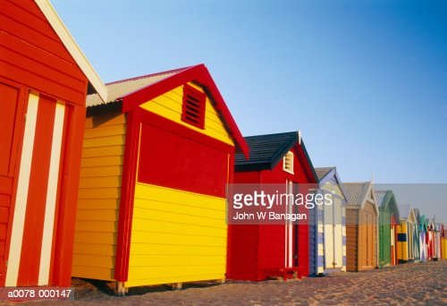 Colorful Beach Huts : Stock Photo