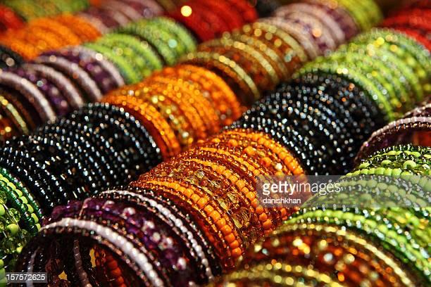 Colorful Beads Bangles Display
