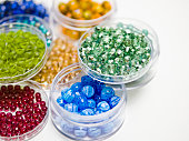 Colorful Beads in Trays