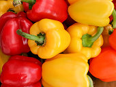 Colorful bell pepper or sweet pepper on the background