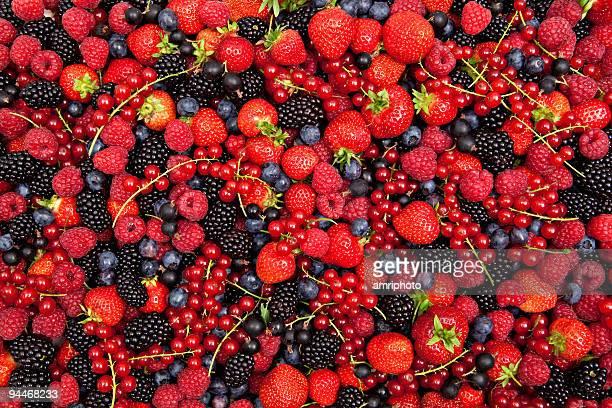 Colorido berry mistura