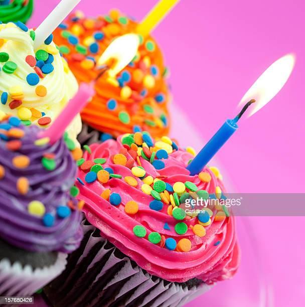 Colorful Birthday Cupcakes