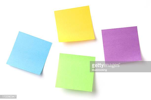 Colorful blank post it memo sticky notes