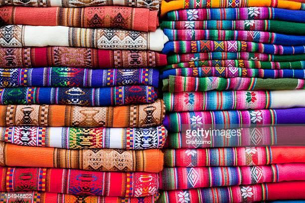 Colorato coperte in un mercato in Argentina, america meridionale