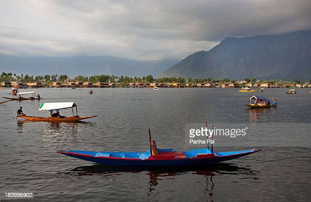Colorful boats over Dal Lake,Kashmir