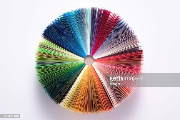 Colorful Book Pages Pie Chart