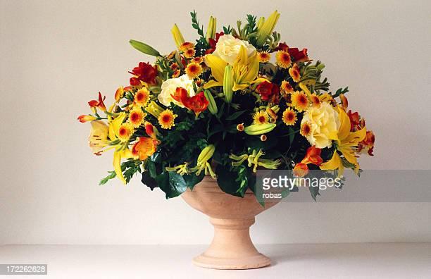 Colorful Bouquet in ceramic vase