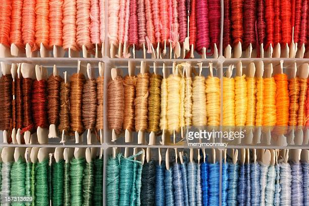 colorful box of thread