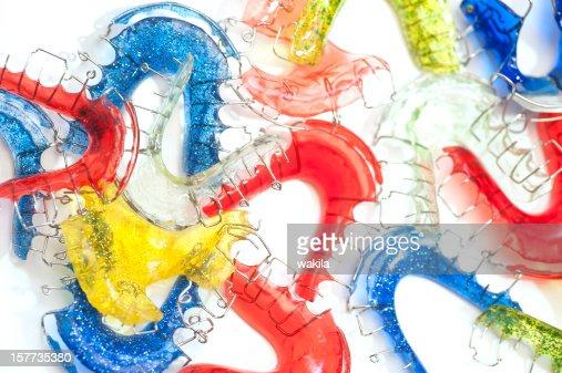 colorful braces studio shot