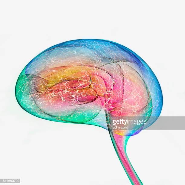 Colorful Brain Energy Activity