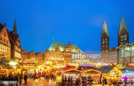 Colorful Bremen Christmas Market