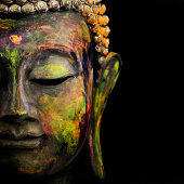 colorful Buddha on Black