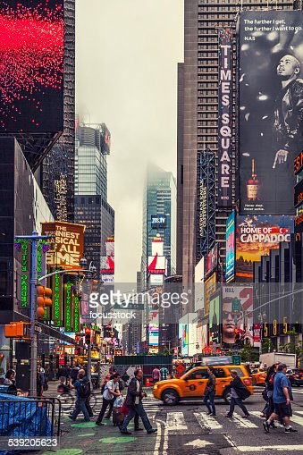 colorful building signs in times square stock photo getty images. Black Bedroom Furniture Sets. Home Design Ideas